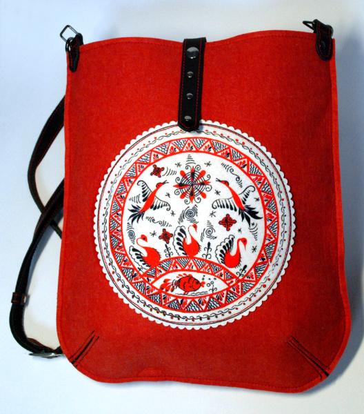 Красная сумка-торба