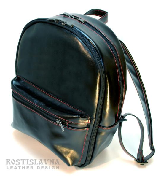 Рюкзак черный на два отделения