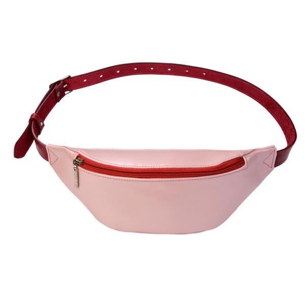 Сумка поясная малая «Розовый перламутр»