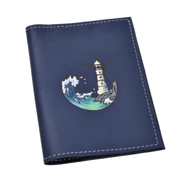 Обложка на паспорт кожаная «Маяк»