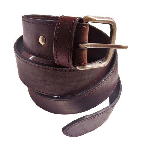 Ремень кожаный цвет «темный шоколад»